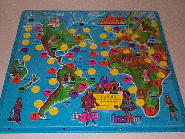 1967 World of Fashion Game Board
