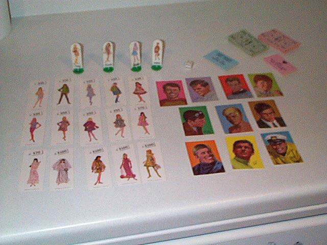 1967 World of Fashion Game Pieces